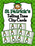 St Patricks Day Time to the Hour Clip Cards