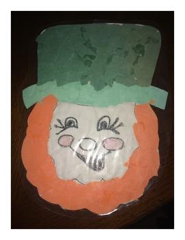 St. Patrick's Day Torn Paper Leprechaun Craftivity