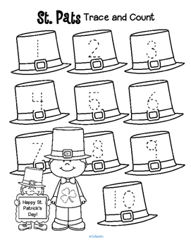 St. Patrick's Day Trace and Count FREE