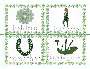 St. Patrick's Day Trace the Vocabulary Words