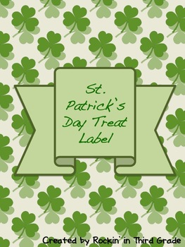 St. Patrick's Day Treat Bag Label
