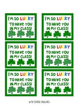 St. Patrick's Day Treat Tag Printable {FREEBIE}
