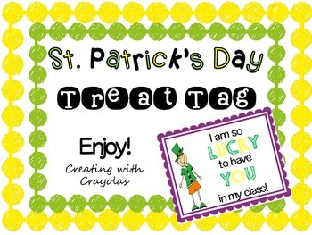 St. Patrick's Day Treat Tag
