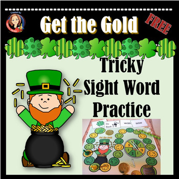 St. Patricks Day Tricky Sight Word Practice Game for Word Reversals