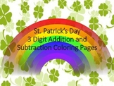 St. Patrick's Day Color by Number-- Triple Digit Addition and Subtraction