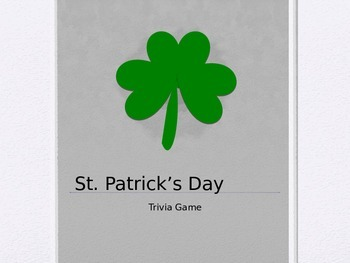 St. Patrick's Day Trivia Game