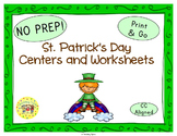 St. Patrick's Day Worksheets Activities Games Printables and More