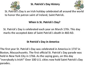 St Patricks Day Unit