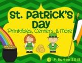 St. Patrick's Day Unit {Centers, Printables, & More}