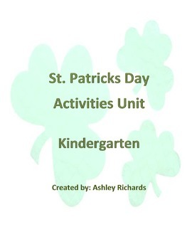 St. Patrick's Day Unit activities