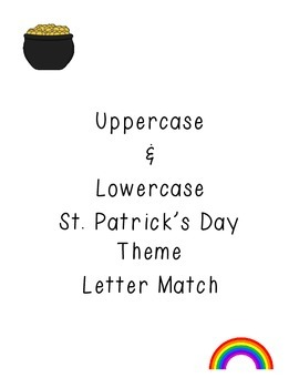 St. Patrick's Day Uppercase & Lowercase Letter Match