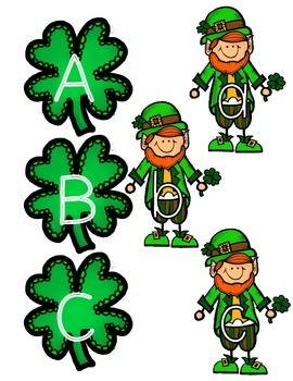 St. Patrick's Day Uppercase-Lowercase Letter Matching