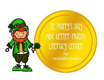 St. Patrick's Day Uppercase and Lowercase Alphabet Match Literacy Center