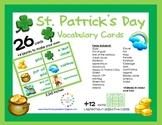FREE St. Patrick's Day Vocabulary {26 Cards + 12 Leprechau