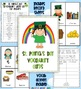 St. Patrick's Day Vocabulary Bundle Worksheets Cards and G