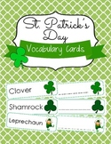 St. Patrick's Day Vocabulary Cards and Spelling Practice