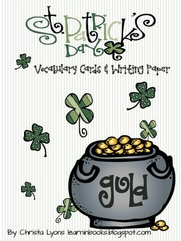 St. Patrick's Day Vocabulary Cards