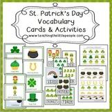 St. Patrick's Day Vocabulary Cards & Activities for Preschool & Kindergarten