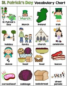 St. Patrick's Day Vocabulary Chart