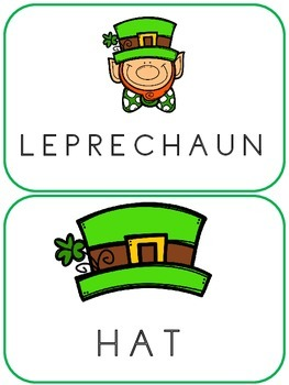 St. Patrick's Day Vocabulary Clothespin Task