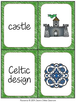 St. Patrick's Day Vocabulary Concentration Cards