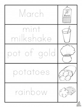 St. Patrick's Day Vocabulary Flip Books (Differentiated)
