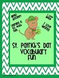 St. Patrick's Day Vocabulary Fun