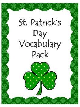 St. Patrick's Day Vocabulary Pack