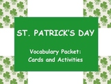St. Patrick's Day Vocabulary Packet - Cards and Activities