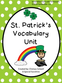 St. Patrick's Day Vocabulary Unit