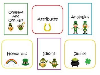 St. Patrick's Day Vocabulary and Figurative Language Unit