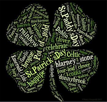 St. Patrick's Day Vocabulary image for Classroom Decoration Poster or Sign