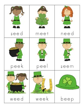 St. Patrick's Day Vowel Digraph Cards