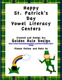 St. Patrick's Day Vowel Literacy Centers