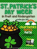 St. Patrick's Day Week in PreK and Kindergarten (rainbow fun, too)!