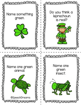 St. Patrick's Day Wh questions {use with any therapy game or activity}
