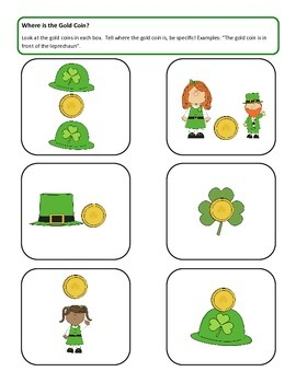 St. Patrick's Day ~ Where is the Leprechaun's Gold? Location Words
