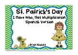 St. Patrick's Day I Have, Who Has Multiplication Spanish Version