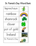 St, Patrick's Day Word Bank