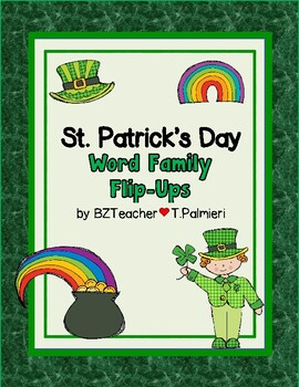 St. Patrick's Day Word Families Flip Ups