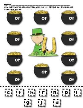 St. Patrick's Day Word Family Fun Pack