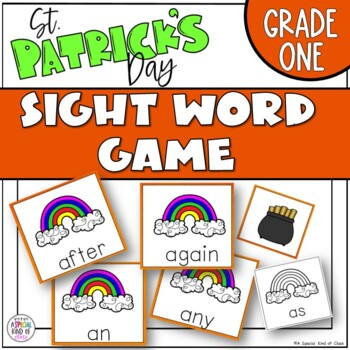 St Patrick's Day Grade One Sight Word Game