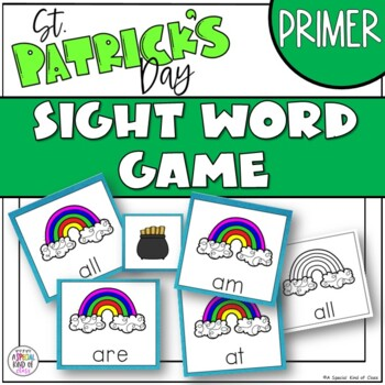 St. Patrick's Day Sight Word Game Primer Dolch List