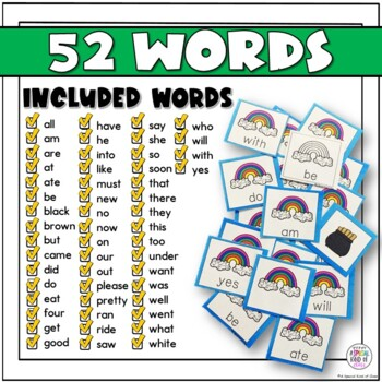 St. Patrick's Day Primer Sight Word Game