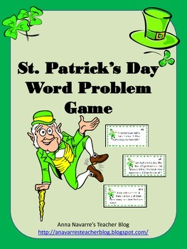 St. Patrick's Day Word Problem Game