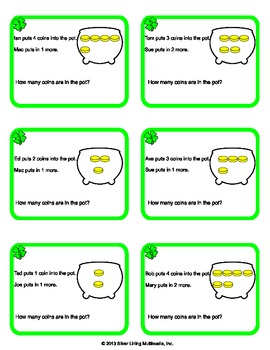 St. Patrick's Day Word Problem Task Cards
