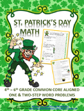 St. Patrick's Day Word Problems: 4th - 6th Grade Common Core Aligned