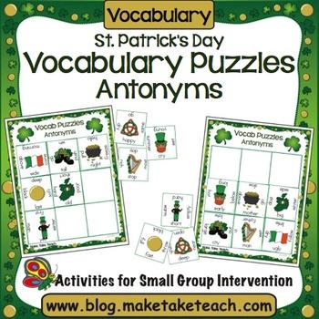 Antonyms - St. Patrick's Day Word Puzzles