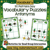 Antonyms - St. Patrick's Day Word Puzzles