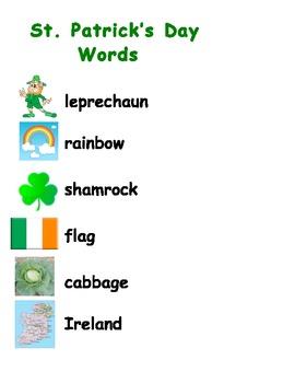 St. Patrick's Day Word Scramble Activity